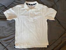 GYMBOREE Boys Uniform White Polo School Shirt Stain Release Finish Size 5 NEW