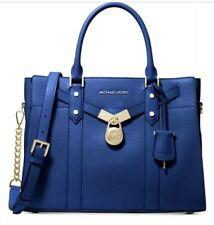 ❤️ Michael Kors Nouveau Hamilton Large Vintage Blue/Gold Satchel