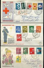 NETHERLANDS LOT OF TEN OFFICIAL FIRST DAY COVERS AS SHOWN