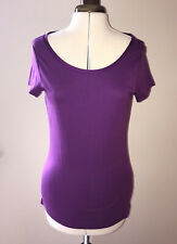 Size M (UK 12/14) Banana  Republic Scoop Neck Purple Short Sleeve T Shirt Top