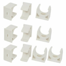 10pcs 20mm Dia White Pvc Water Tube Pipe Hose Clamps Snap in Type Clips Fittings