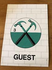 More details for pink floyd sticker sticker guest pass 1981