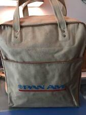 Pan Am Airlines Vintage Flight Attendant/Pilot Beige Canvas Carry On Bag