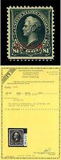 U.S. 1899 GUAM - Perry  $1 black - Type I - Sc# 12 mint MLH VF-XF stamp  w/Cert.