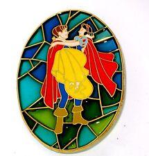 Rare LE 100 Disney Pin✿Snow White Seven Dwarfs Stained Glass Prince Princess NEW