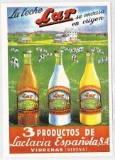 Reproducción Antigua publicidad leche lar 3 productos de lactaria vidreras