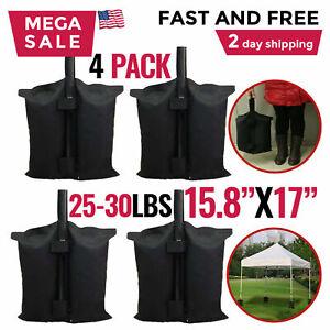 Canopy Tent Weights Leg Bag Sand Bags Pop Up Ez Anchor Patio Outdoor Garden 4 PC