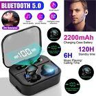Bluetooth5.0 Earbuds TWS Wireless Earphones Twins Headset IPX7 Stereo Headphones