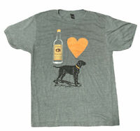Titos Vodka- I Heart Dogs Tshirt/ Size Large