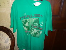 """A Christmas Story """"I Triple Dare You"""" Mens Green Large T-ShirT New"""