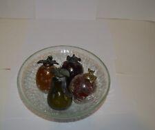 Vintage crackle glass fruit & bowl