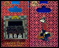 Disney Parks 2 Pin Lot Tower of Terror slider + Goofy bellhop moveable - New