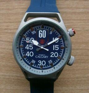 Calgary Mugello Sixty  Kautschuk-Armband Blau  Herren Armbanduhr Neu