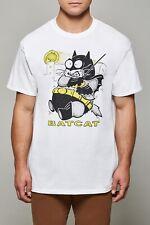 MENS FUNNY CAT T SHIRT BAT CAT T SHIRT