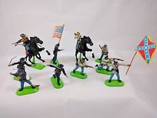 1-1971 Deetail 9-Britains Lot of 10 Toy Soldiers American Civil War- Metal Base