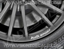 8x Audi Sport Logo Premium Cast Wheel Rim Decals Stickers S-line TT RS Quattro