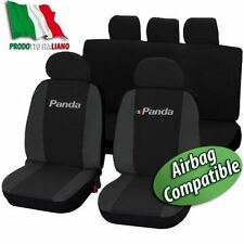 COPRISEDILI  AUTO FIAT PANDA DAL 2012 BICOLORE NERO-GRIGIO SCURO