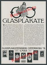 Glasplakatefabrik Schell Offenburg Manoli Garbáty ABC Batschari Zigaretten 1916