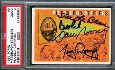 POP1 PSA DNA Auto Tony Dungy Bill Cowher Dick Lebeau Dan Rooney Signed Autograph