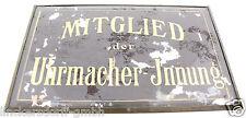 """GLASSCHILD """"Mitglied der Uhrmacher-Innung"""" - ca.1930er Jahre - extrem selten"""