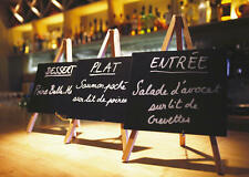 Chalkboard Sign & Wooden Easel Chalk Board Offers Board With Stand 240 x 150mm