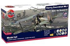 AIRFIX A50133 1/72 Fairey Swordfish MkI Gift Set (Sink the Bismarck)