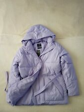 Womens Abercrombie & Fitch Water Resistant Hoodie Quilted Jacket Size Large