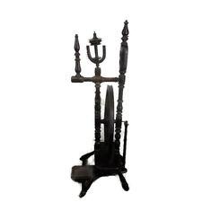 Vintage High Dark Wooden Spinning Wheel Decorative Spindle