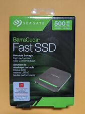 Seagate Barracuda Fast SSD 500GB External SSD Portable –STJM500400 - NEW