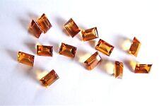 Citrin  Baguette Rechteck 7 x 5 mm gelb orange ca 1 Carat