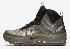 Nike Air Bakin' Posite Sz 9.5 Metallic Pewter Black Silver Foamposite 618056-002