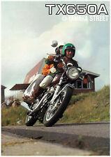 YAMAHA Brochure TX650 TX650A 1974 GEN Sales Catalog Catalogue REPRO