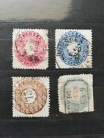 German Stamps -- Germany States Saxony 1863 SC17-20b (SCOTT 94 USD)
