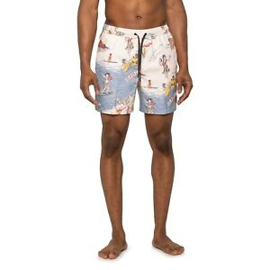 Quiksilver Variable Volley Hawaiian Swim Trunk Shorts Men's Size L Large NWT