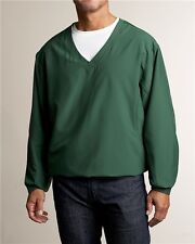 GREEN CUTTER & BUCK ASTUTE WIND TEC CB WINDTEC ACTIVE V NECK WINDSHIRT M GOLF