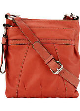 GENUINE RED LEATHER CROSSBODY HANDBAG- NEW - LAST ONE ! SHOP STORE SALE TODAY !