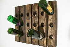 Riddling Rack Distressed Wood Wine Rack Hand-Made in USA