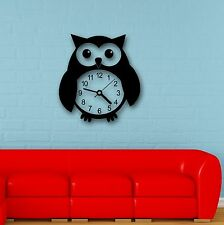 Wall Stickers Vinyl Decal Funny Owl Bird Clock Great Decor for Kids Room (i694)