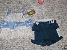 NWT- Ruffled flowered top & denim shorts - 2T girls