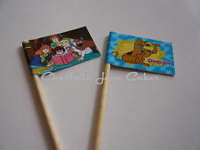 20 banderas Cupcake/Toppers-SCOOBY DOO Niños Cumpleaños Fiesta