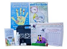 ATTENTION TEACHERS! Glo Germ Classroom Kit w/Gel, UV Flashlight, Charts & Xtras