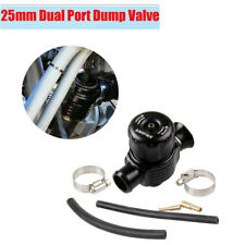 Black Car Dual Port Blow Off Turbo Bov Valve Diverter Valve 25mm with Pipe Clip