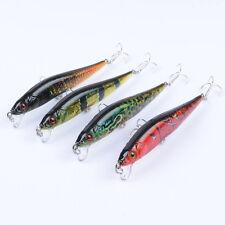 4pcs/Lot Bait Plastic Wobbler Minnow Lure Fishing Lures Bass CrankBait 10cm/10g