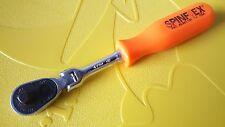 "*NEW* Proto MAC Tools 1/4"" SPINFLEX flexhead ratchet ORANGE"