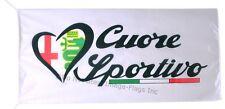 ALFA ROMEO FLAG BANNER WHITE 164 156 gtv 5 X 2.45 FT 150 X 75 CM