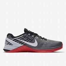 Nike Metcon DSX Flyknit UK 11 EUR 46 Dark Grey University Red 852930 002 New