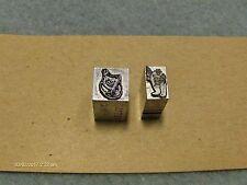 Vintage Letterpress Press Metal Print Blocks 2 Misc.Fat Guy and ? NEW 1990