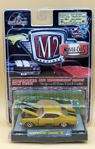 M2 Machines MUSCLE CARS 1970 CHEVROLET CHEVELLE SS 08-04 RELEASE 01 GOLD/BLACK