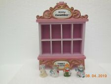 Kitty Cucumber Thimble Collection ~Schmid Musical Display Cabinet & 4 Thimbles