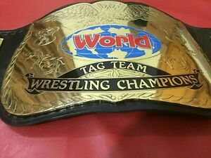 WWF World TAG TEAM Wrestling Championship Belt dual plated Adult Size Replica
